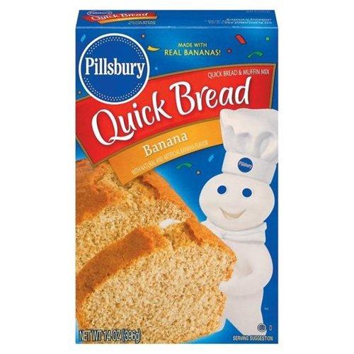 Pillsbury Banana Quick Bread & Muffin Mix 14OZ (Pack of 24)