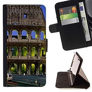 For LG G4 Case , Arquitectura Coloso Edificio City- la tarjeta de Crédito Slots PU Funda de cuero Monedero caso cubierta de piel