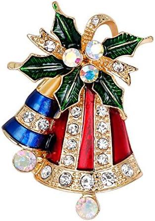 Doitsa ブローチ 胸元 中空 ラインストーン ベル 輝く クリスマス用品 プレゼント ギフト キラキラ