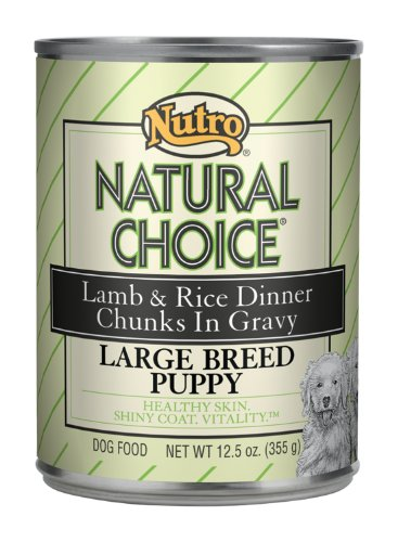 Natural Choice Dog Large Breed Lamb and Rice Dinner Puppy Food Cans, 12-1/2-Ounce, 12 pack cans, My Pet Supplies