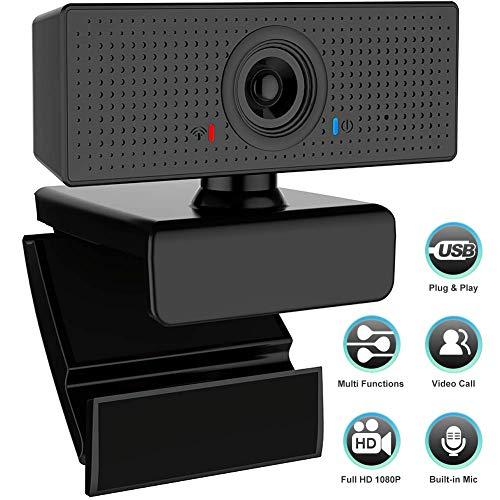 🥇 swonuk FHD 1080P Webcam con Micrófono Estéreo