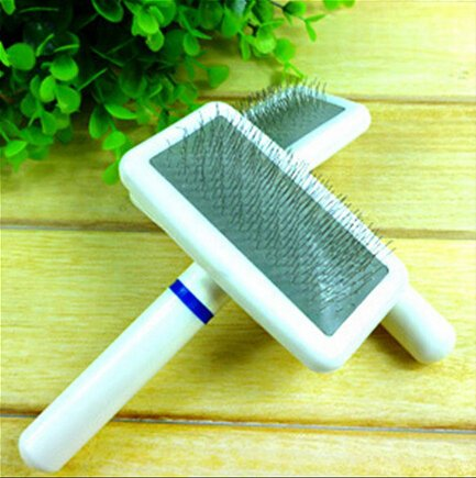 Qich® Free Shipping Cat Dog Accessories Soft Comfortable Plastic Handle Brush Airbag Pet Grooming Pin Comb Steel Needles For Small Dog