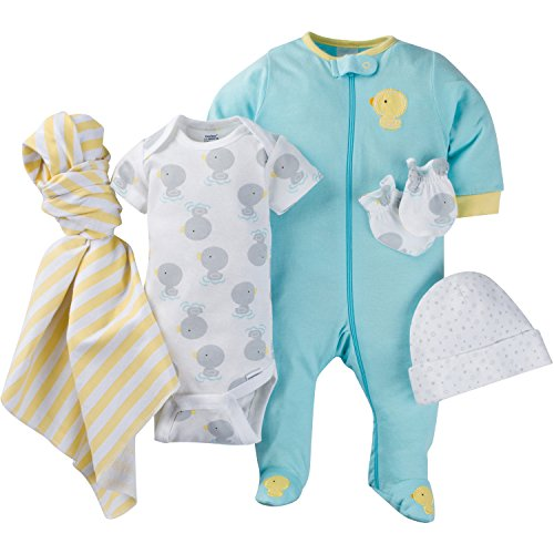 Gerber Baby 15 Piece Grow with Me Onesies in 3 Sizes, New Duck, Assorted Months