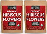 Cheap Organic Hibiscus Flowers – Loose Tea (400+ Cups) – Cut & Sifted – 2x 16oz Reselable Bags (32 oz / 2 Pounds Total) – 100% Raw From Egypt – by Feel Good Organics