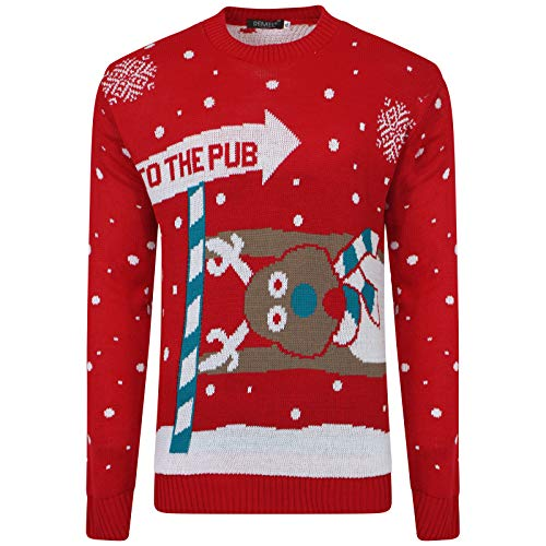Pub Tricot Red Reindeer Unisexe 1klickglobal To The Rudolph Noël Pull De Femmes Hommes 7qx5P6