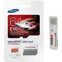 Samsung Evo Plus 64GB MicroSD XC Ultra Class 10 Memory Card for Samsung Galaxy E7 E5 A5 A3 V S5 Plus Grand Core Prime Tab Active Note Edge 4 S Duos 3