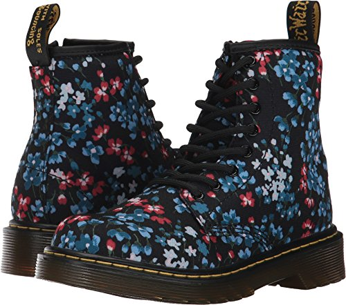 Dr. Martens Kid's Collection Girl's Delaney KF (Little Kid/Big Kid) Kelly Floral Print T Canvas Boot