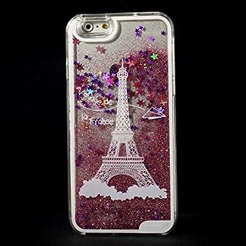 Coque2mobile ® - Carcasa Torre Eiffel con purpurina y ...