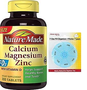 Naturaleza calcio magnesio Zinc tabletas con vitamina D, 300 hilos