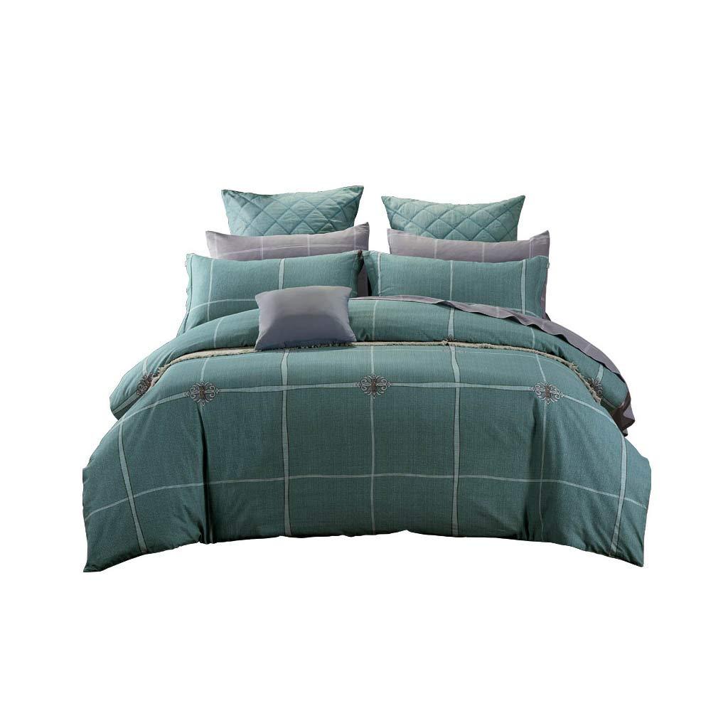 ダブルベッドカバー - 4つのコットンソリッドカラードミトリーの寝具セット (サイズ さいず : 5FT) B07G4XF8GL  5FT