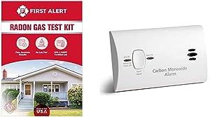 First Alert Radon Gas Test Kit, RD1 & Kidde Carbon Monoxide Detector Alarm |Battery Operated | Model # KN-COB-LP2 9CO5-LP2