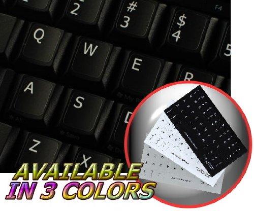 ENGLISH US NON-TRANSPARENT KEYBOARD STICKERS BLACK BACKGROUND (Logitech Sticker)