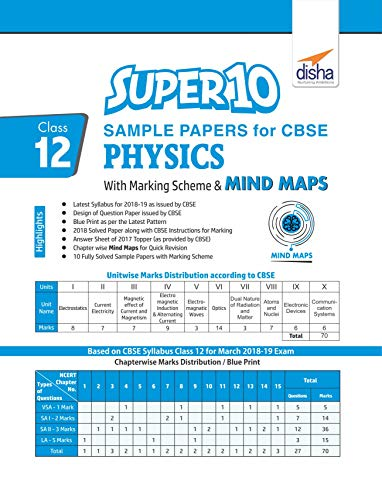 Super 10 Sample Papers For CBSE Class 12 Physics