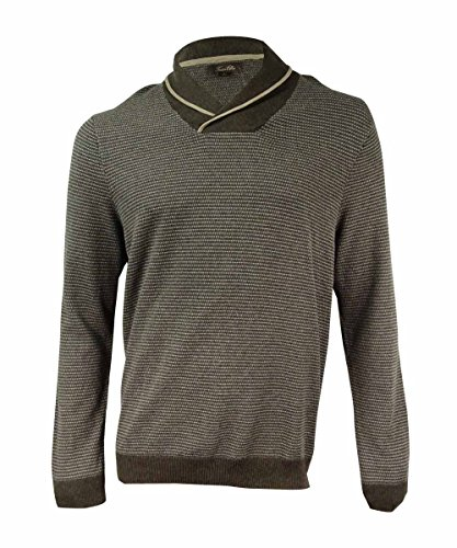 New Tasso Elba Mens Rice Stitch Ribbed Trim Shawl-Collar Sweater free shipping