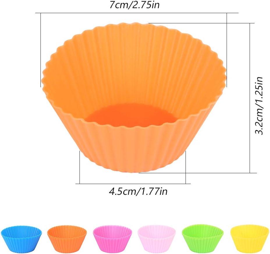 Moulle Silicone Patisserie Antiadh/ésif Moules /à G/âteau Silicone R/ésistant Chaleur pour Muffins Cupcakes G/âteau Iraza Lot de 12 Caissettes Cupcake Silicone Moulle Cupcakes Silicone R/éutilisables