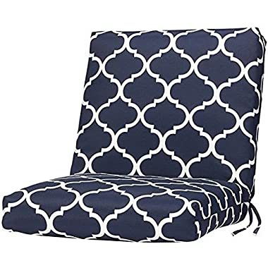 Bullnose Seat / back Outdoor Chair Cushion, 2 Hx19 Wx36 D, LANDVIEW NAVY POLYESTER