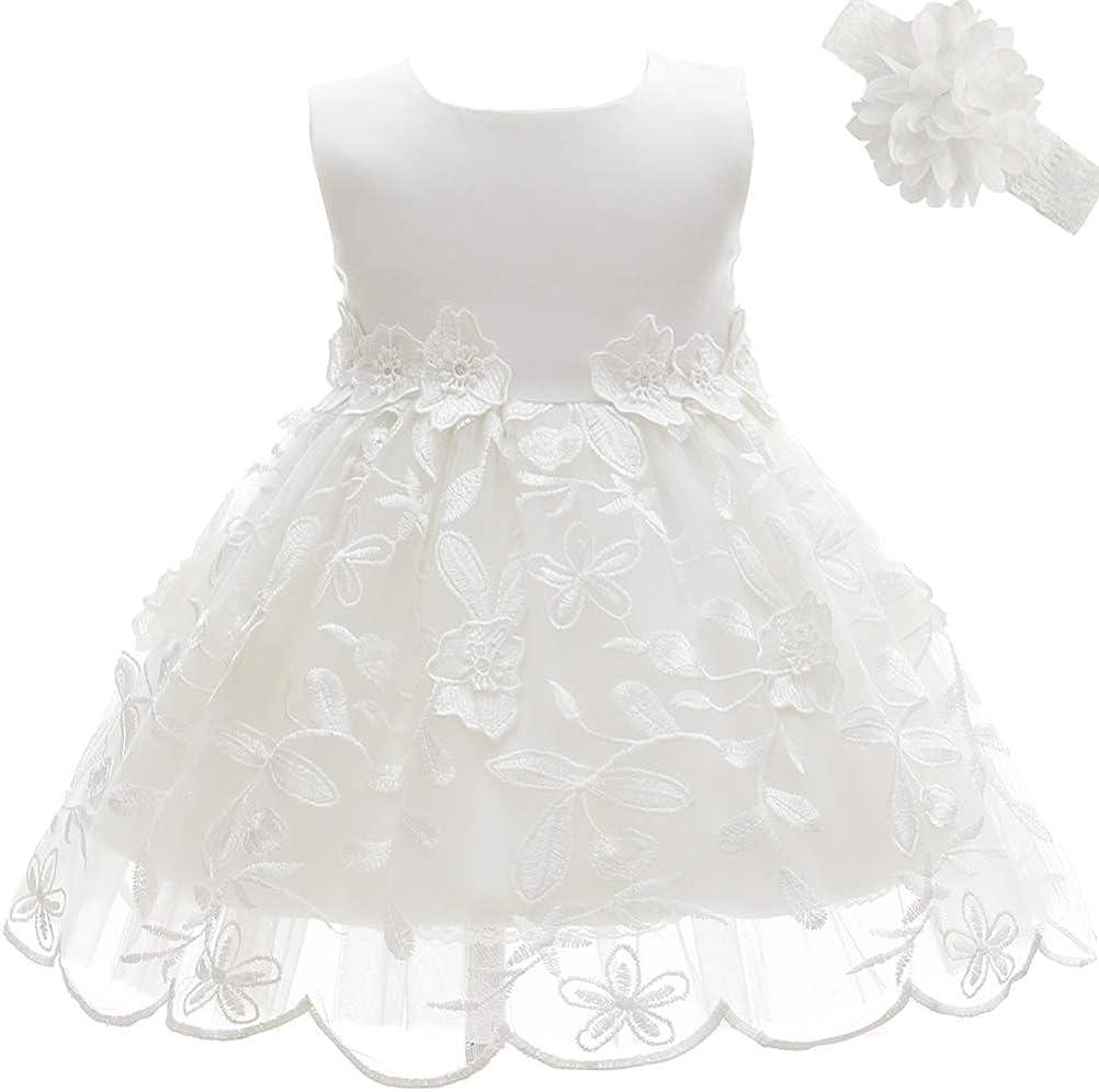 Moon Kitty Baby Girl Dress Christening Baptism 2PCS Gowns Formal Dress