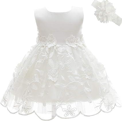 AHAHA Vestido Bautizo Bebe Niña Vestido de Fiesta Bebe: Amazon.es ...
