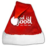 God Is Good All The Time Christian Christmas Hat Velvet Santa Hat S Size For Kid,M Size For Adult