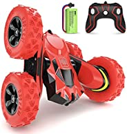 SGILE RC Stunt Car Toy, Remote Control Car with 2 Sided 360 Rotation for Boy Kids Girl