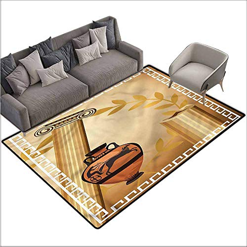 Hellenic Area Rugs - Polyester Rubber Door Mats Toga Party,Hellenic Heritage 80