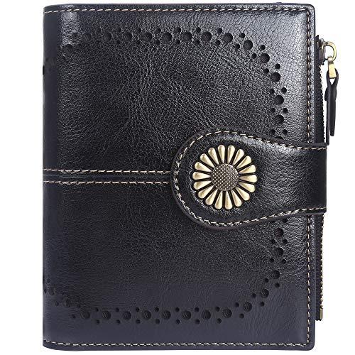 Lavemi Womens Leather Wallet RFID Blocking