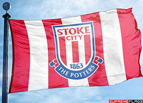 (Stoke City Flag Banner 3x5 England British UK Premier Football Soccer)
