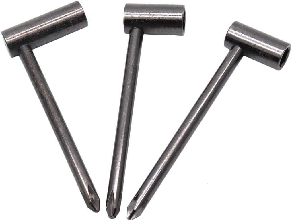 perfk 3pcs Long Handle Guitar Truss Rod Adjustable Wrench Wrench 7//8 6.35mm-Black