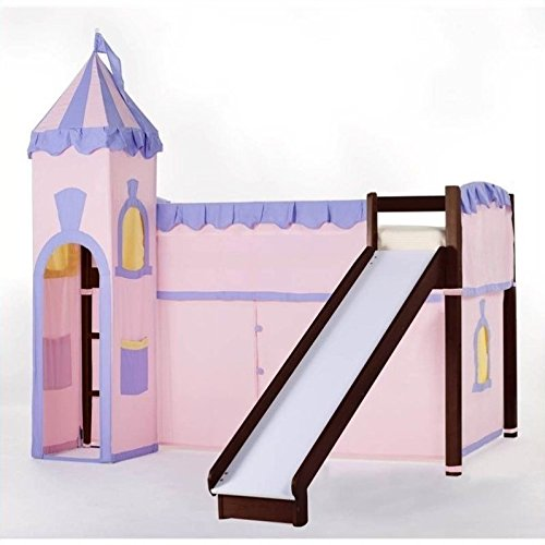 NE Kids School House Princess Loft Bed in Cherry