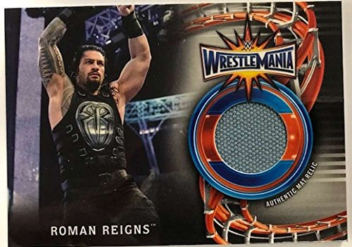 2018 Topps Road to WrestleMania WrestleMania 33 Mat Relics #WM-RR Roman Reigns NM-MT MEM from Road to WrestleMania