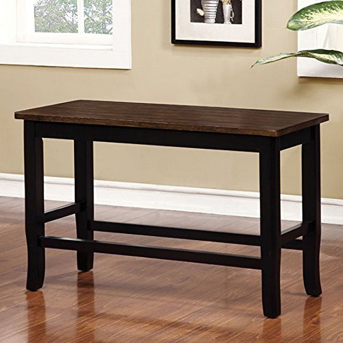 Furniture of America CM3326BC-PBN Dover II Counter Height Seating Bench