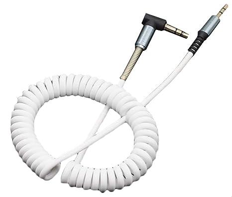3.5 mm audio AUX cavo a spirale cavo stereo prolunga maschio a maschio  molla per ausiliario 79dabcdb35e9