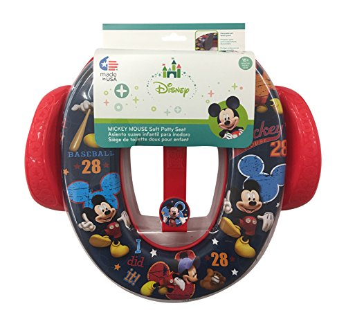 Mickey Mouse Disney Soft Potty Seat with Handles and Hook -
