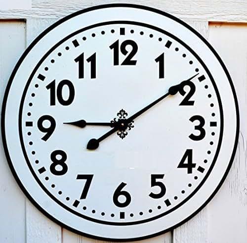 Amazon Com Custom Personalized Large Wall Clock Handmade