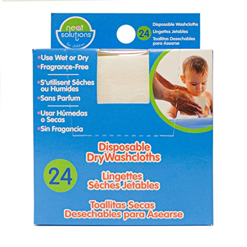 Neat Solutions Disposable Washcloths, 24 Count