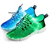Shinmax Fiber Optic LED Shoes, Light Up Shoes for Women Flashing Luminous Trainers for Festivals, Christmas Party