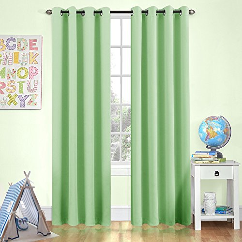 Kids Room Darkening Curtains Bedroom 84 in Length Nursery Mo