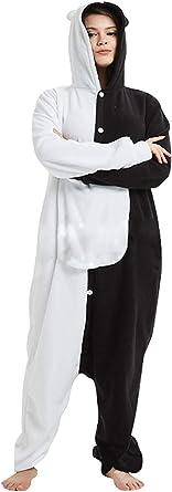 TIMSOPHIA Monokuma - Pijama unisex para dormir de anime, para cosplay, carnaval, Halloween, fiesta, mameluco