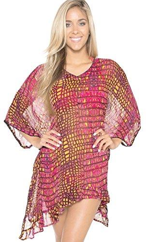 Short Sleeves Cover Up Swimsuit Bathing Dress Caftan Wrap Kimono Beach Wear S-3X