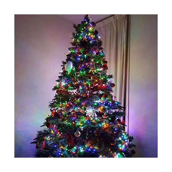 ANSIO Luci natalizie per interni e esterno 1000 LED albero luci Multi Colore, 8 modalità con memoria e funzione timer, alimentate, trasformatore incluso 25m Lunghezza illuminata- CAVO VERDE 5 spesavip