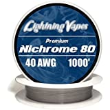 Genuine Lightning Vapes ® 40 AWG Nichrome 80 Wire 25' 50' 100' 250' 500' 1000...