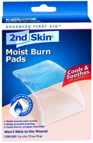 2nd Skin First Aid Moist Wound Care Burn Pad 3
