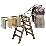 Ladder Folding Drying Rack, Household Steps For Five-Step Pedal, Multifunctional Airfoil Drying Rack, Aluminum Alloy-L182cmW50cm98cm, Load-bearing 150kg ( Size : Five steps )