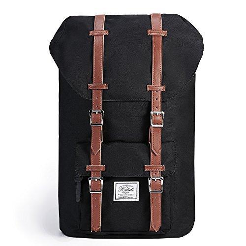 KALIDI 18.3 Inch Laptop Backpack, Hiking Gaming Backpack Camping Rucksack Pack Travel Outdoor Tablets Daypack Large College School Bag for Women and Men(Black)