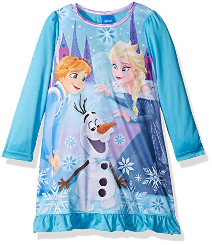 Disney Big Girls' Frozen Elsa Nightgown, Blue, 8