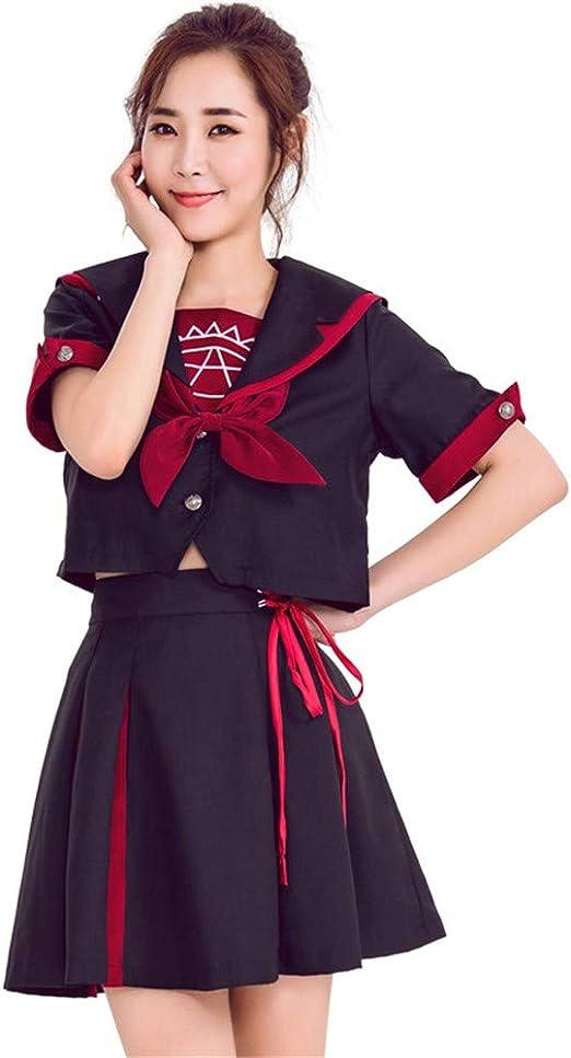 QZ Niñas de la Escuela Japonesa Uniforme de Marinero Falda Plisada ...