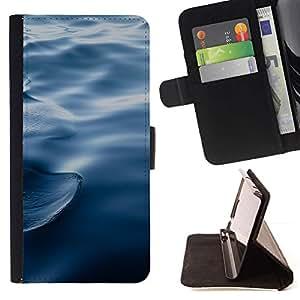 For HTC Desire 626 626w 626d 626g 626G dual sim Case , Ondas Ondas de agua azul profundo del océano- la tarjeta de Crédito Slots PU Funda de cuero Monedero caso cubierta de piel