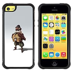LASTONE PHONE CASE / Suave Silicona Caso Carcasa de Caucho Funda para Apple Iphone 5C / Pilot Man Attire Uniform Art Painting Fly