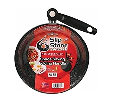 """Slip Stone Cookware 10"""" Non Stick Cook Fry Pan Folding Handle As Seen On TV NEW"""