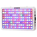 Cheap HIGROW Optical Lens-Series 600W Full Spectrum LED Grow Light for Indoor Plants Veg and Flower, Garden Greenhouse Hydroponic Grow Light. (12-Band, 5W/LED)